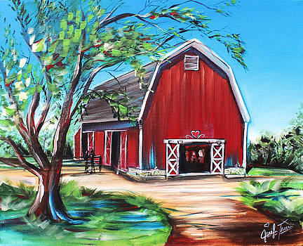 Red Barn by Jennifer Treece