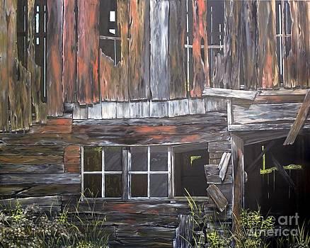 Red Barn Singhampton ON by Anna-maria Dickinson