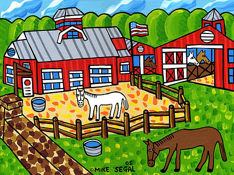 Red Barn Stable by Mike Segal