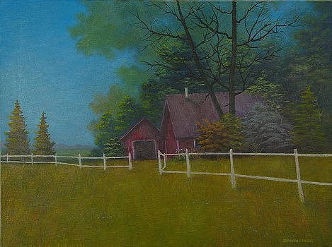 Red Barn by Steven  L Parris