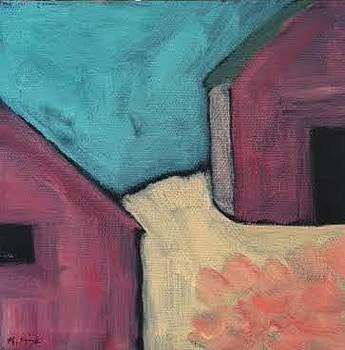 Red Barns in Poppy Season by Molly Fisk