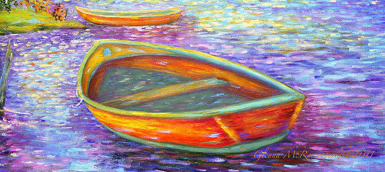 Glenna McRae - Red Boats on Autumn
