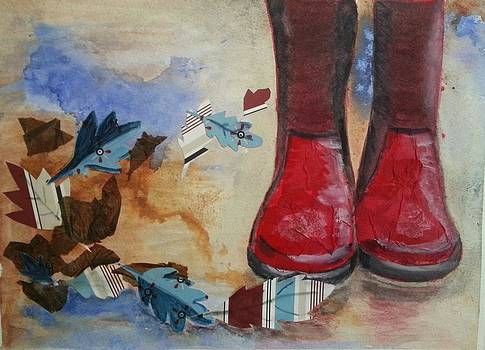 Red Boots by Lynette Clayton