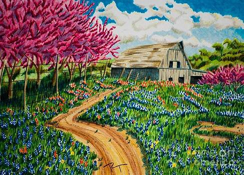 Red Bud Barn by Robert Thornton