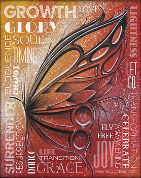 Red Butterfly Wordart by Reina Cottier