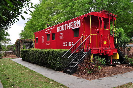 Red Caboose by Dustin Bridges
