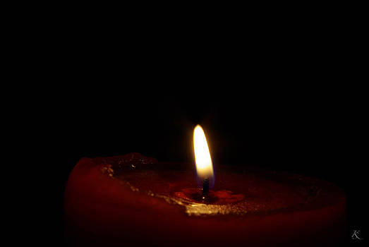 Red Candle 4 by Kelly Smith