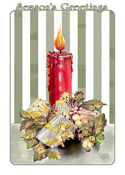 Red Candle by Arline Wagner