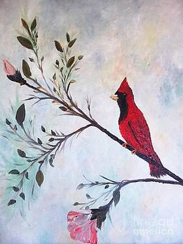Red Cardinal Welcome by Rhonda Lee