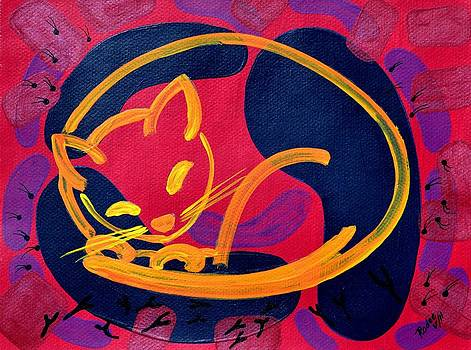 Red Cat by Beata Rodee