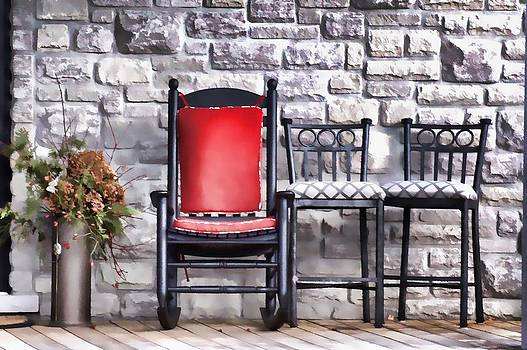 Red Chair of Three by Christopher Grove