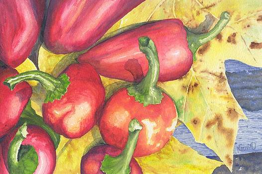 Red Chili Peppers by Oty Kocsis