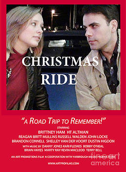 Red Christmas Ride Poster by Karen Francis