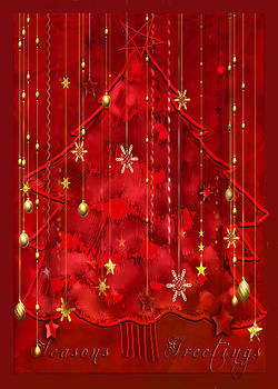 Red Christmas Tree by Arline Wagner