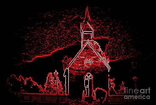 Red Church by Susan Saver