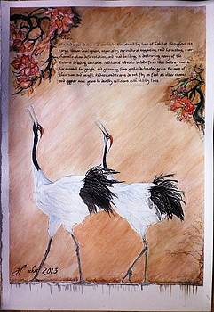 Red Crown Crane story B by Blossom Hackett