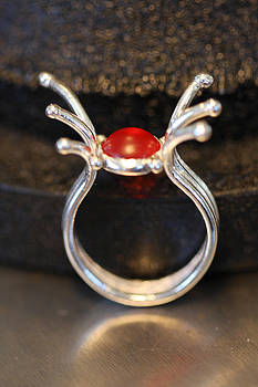 Red Dot ring by Kelly Clower