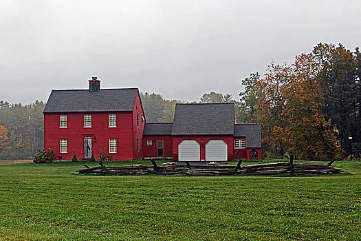 Red Farmhouse by Bob Whitt