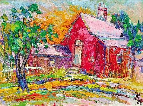 Red farmhouse by Siang Hua Wang