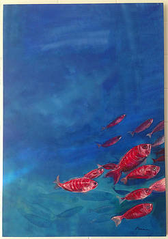Red Fishes by Sirpa Mononen