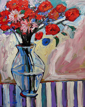 Red Floral by Patty Baker