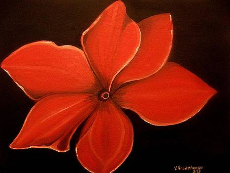 Red Flower by Victoria Rhodehouse