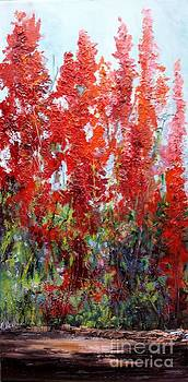 Red Flowers by Barbara Haviland