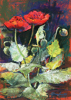 Red Flowers by Beverly Amundson