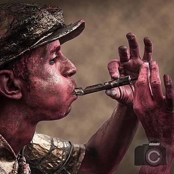 Red Flutist by David Lopez