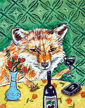 Red Fox at the Wine Bar by Jay  Schmetz