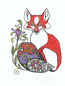 Peggy Wilson - Red Fox with Paisley Tail