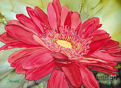Red Gerbera Daisy by Diane Marcotte