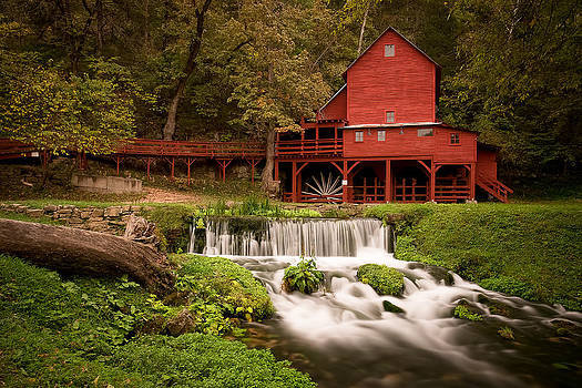 Red Gristmill by Benjamin King