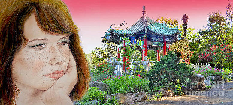 Red Hair and Freckled III Altered Version  by Jim Fitzpatrick