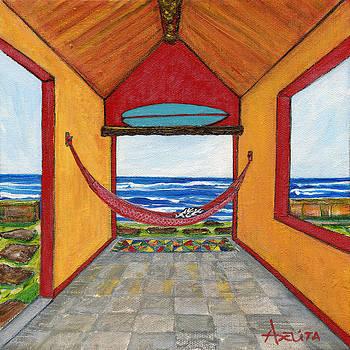 Red Hammock by Adelita Pandini