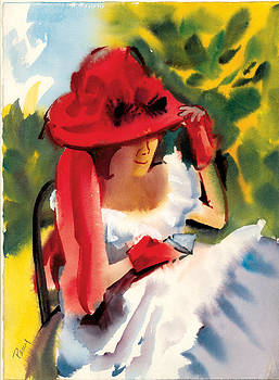 Red Hat Lady by Pat Percy