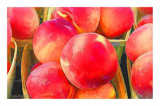 LeeAnn McLaneGoetz McLaneGoetzStudioLLCcom - Red Haven Peaches Oil Paint