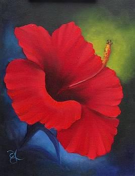Red Hibiscous by Fineartist Ellen