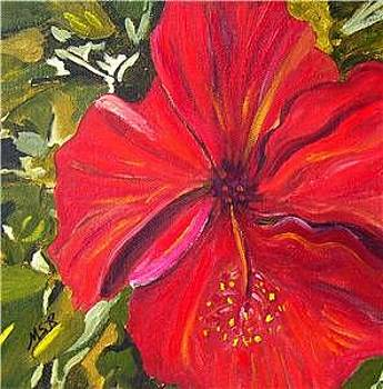 Red Hibiscus by Maria Soto Robbins