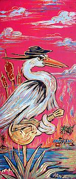 Red Hot Heron Blues by Robert Ponzio