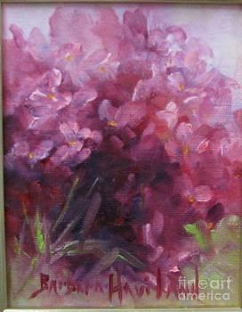 Red Hydrangea by Barbara Haviland