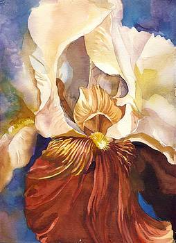Alfred Ng - red iris with blue