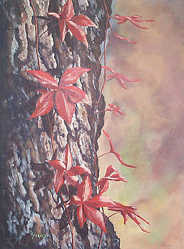 Red Ivy by Ray Nutaitis