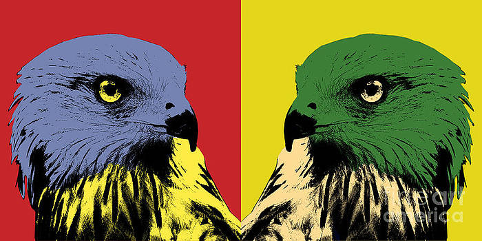 Angela Doelling AD DESIGN Photo and PhotoArt - Red Kite Pop Art