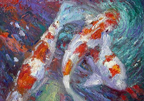 Red Koi Fish by Benjamin Johnson