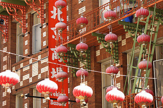 Art Block Collections - Red Lanterns in Chinatown