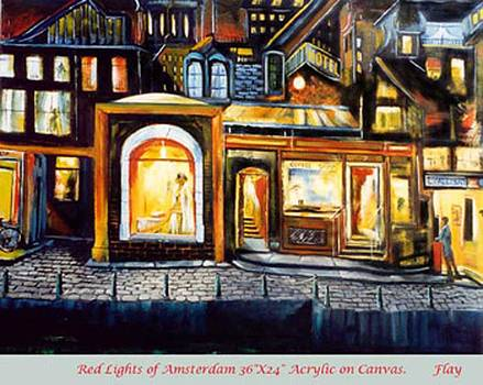Red Lights of Amsterdam by George Flay