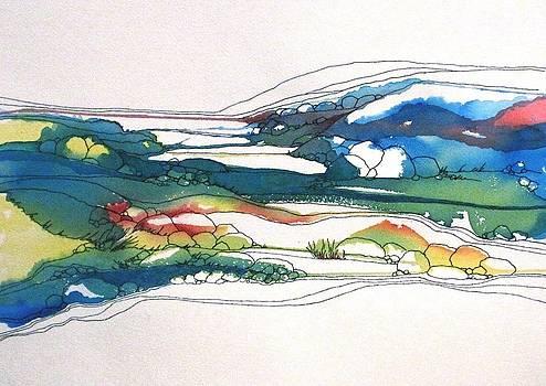Red Line Flow by Renee Goularte