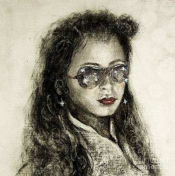 Red Lips and Shades by Vicki Wynberg