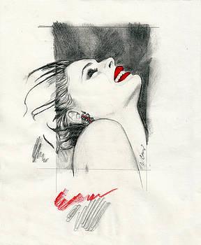 Red Lips by Cheryl Casey Ramirez